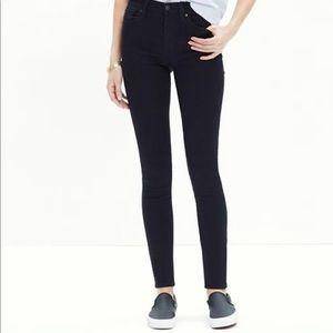 Madewell High Riser Skinny Skinny Black Velvet 30